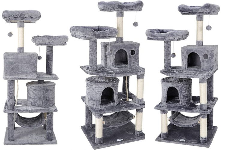 Cat Tree Furniture Kitten Activity Tower Pet Kitty Play House with Scratching Posts Perches Hammock